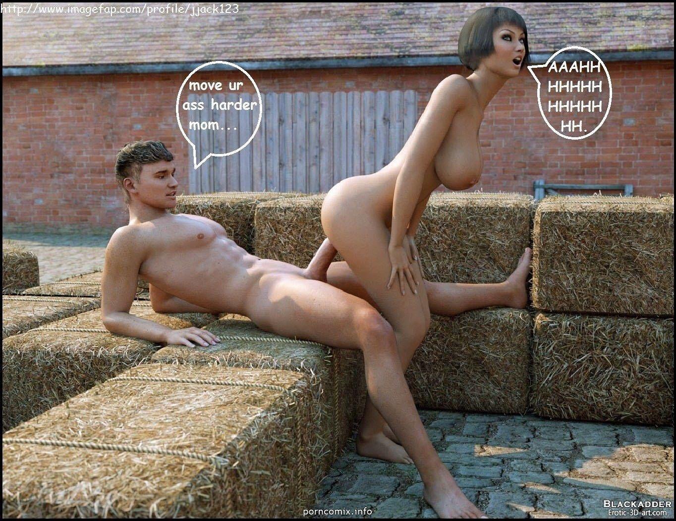 Секс на ферме с парнем