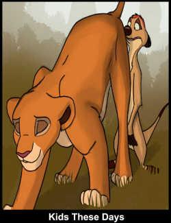 Pron comics lion king