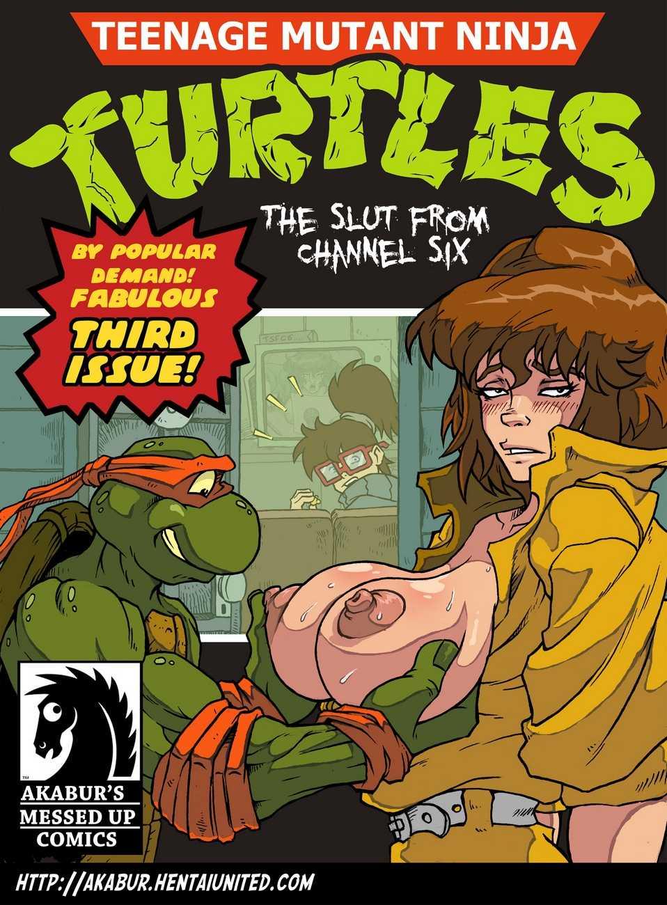 Черепашки-ниндзя. канала шестого шлюха комикс с
