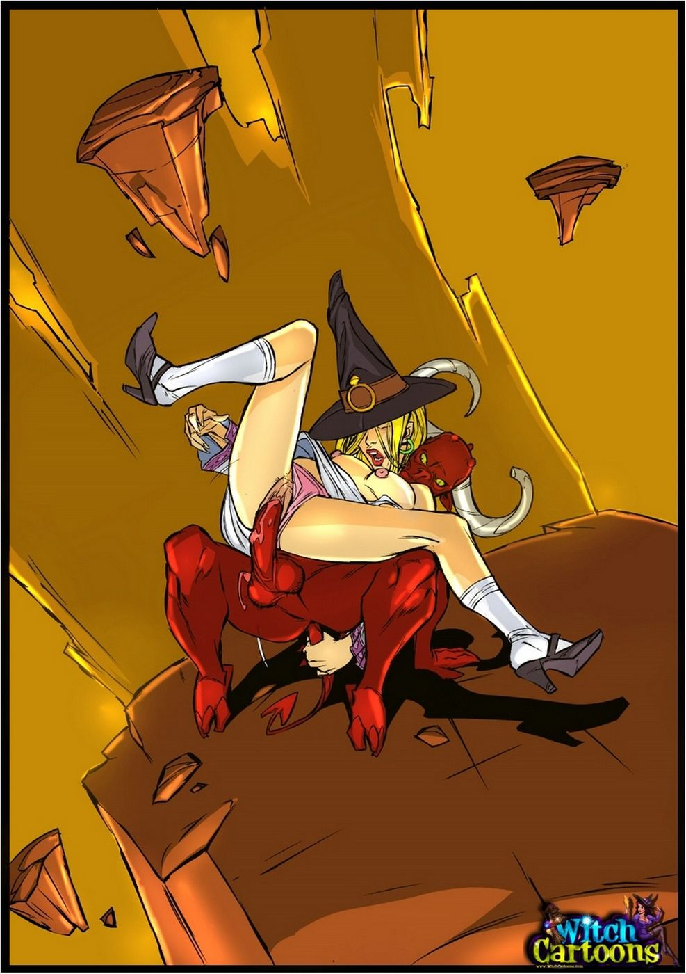 Sexy cartoon witch nackt photo