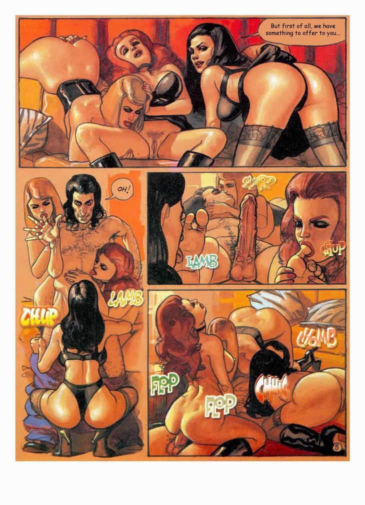 лесби секс комиксы