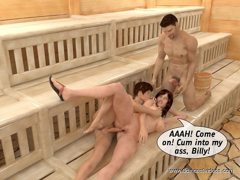 порно рассказ в бане инцес
