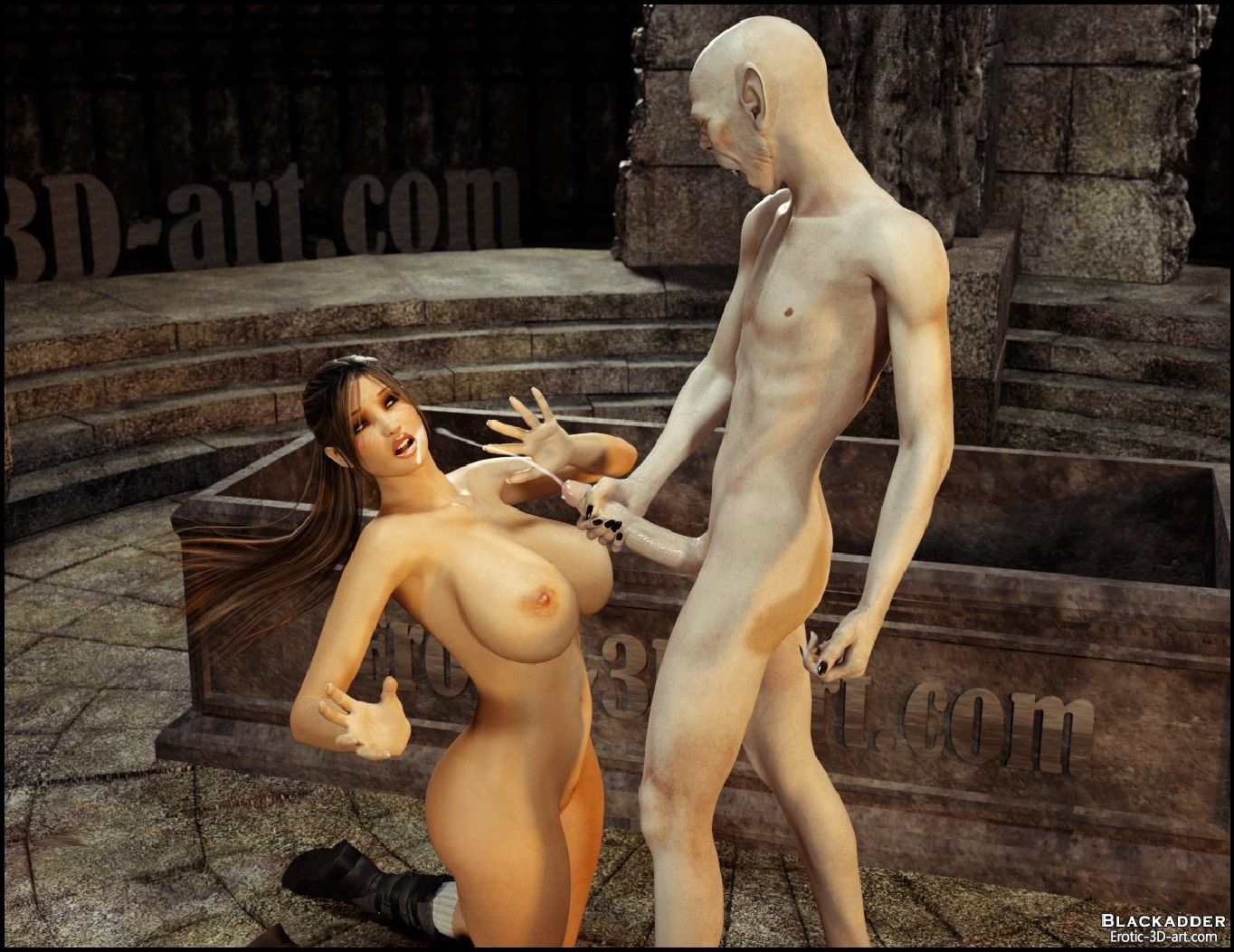 Lara croft fuck by monster 3dsexsins sex scene