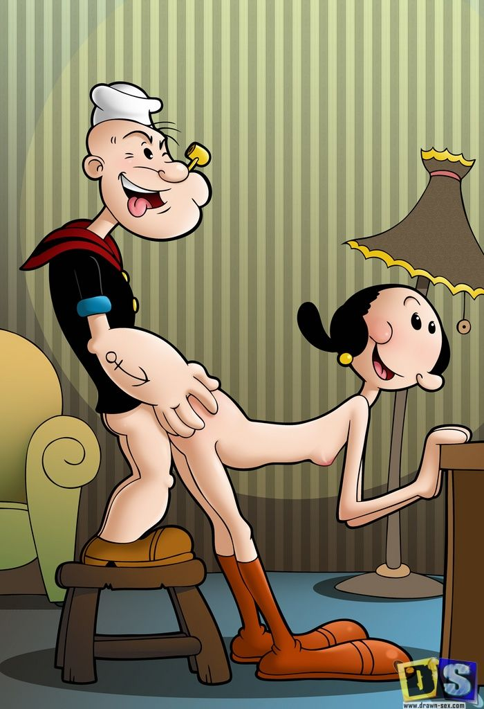 Popeye blowjob cartoon