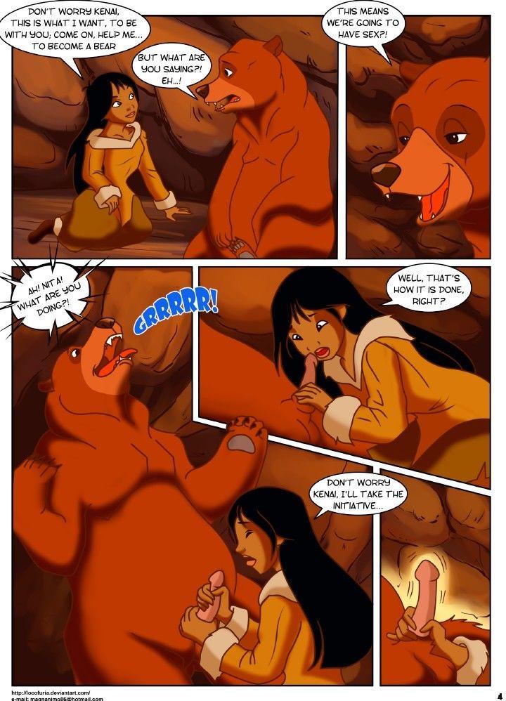 Порно маща и ведмедь