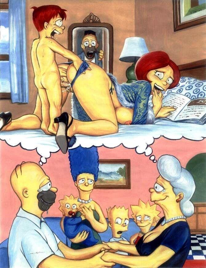 мама и сын симсоны порно комиксы
