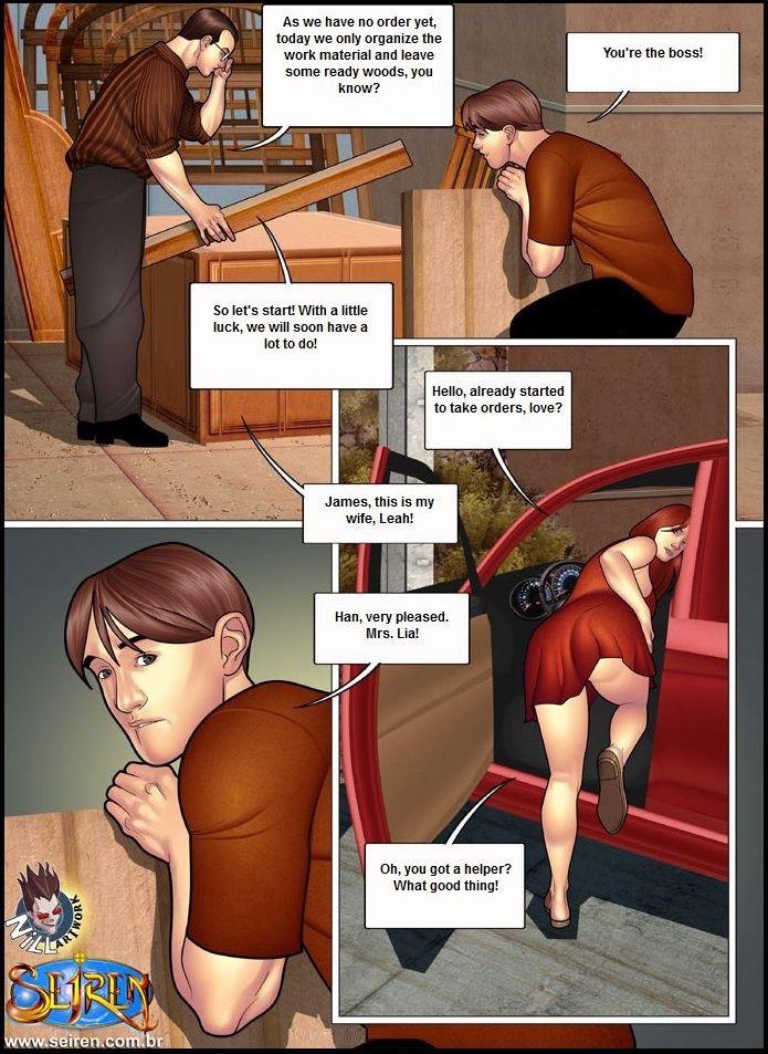 Приключения лии порно комикс